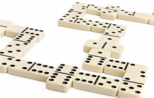 White domino game
